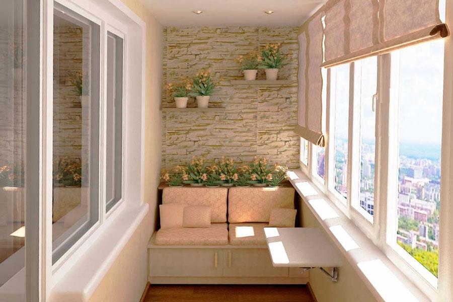 Какие преимущества внутренней отделки балконов и лоджий