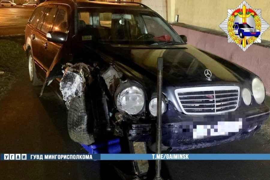 Нетрезвый водитель на Мерседесе устроил ДТП на Партизанском проспекте